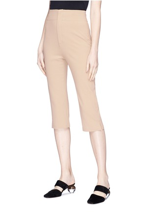 Front View - Click To Enlarge - JACQUEMUS - 'Le Corsaire' high waist cropped suiting pants