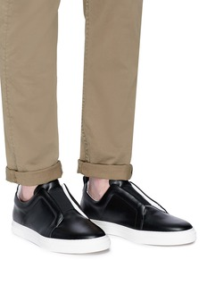 Pierre Hardy 'Slider' elastic band calfskin leather sneakers