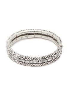 Philippe Audibert 'Fillian' Swarovski crystal braid effect elastic bracelet