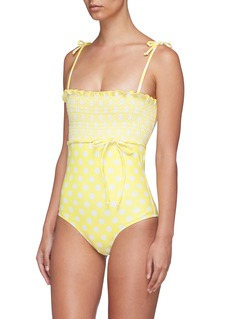 Lisa Marie Fernandez 'Selena' polka dot smocked one-piece swimsuit
