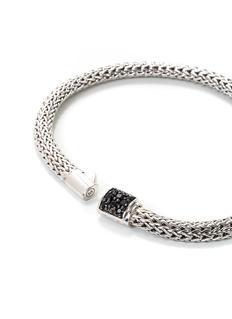John Hardy Sapphire silver extra small woven chain bracelet