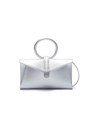 Main View - Click To Enlarge - Complét - 'Valery' mini metallic leather envelope clutch
