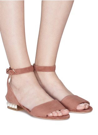 Front View - Click To Enlarge - Nicholas Kirkwood - 'Lola Pearl' suede sandals