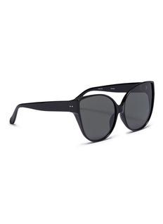 LINDA FARROW VINTAGE Acetate oversized cat eye sunglasses