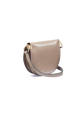 Detail View - Click To Enlarge - JW Anderson - Latch flap barbell ring leather shoulder bag
