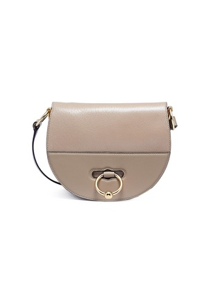 Main View - Click To Enlarge - JW Anderson - Latch flap barbell ring leather shoulder bag
