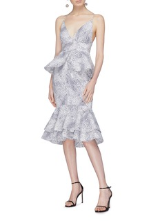 Leal Daccarett 'Azucar' ruffle trim spot print dress