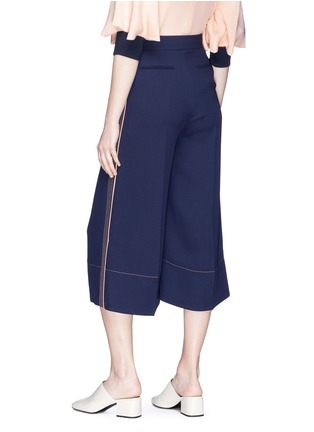 Back View - Click To Enlarge - Roksanda - 'Hasani' stripe outseam crepe culottes