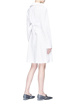 Figure View - Click To Enlarge - Jonathan Liang - Two-in-one ruffle cape overlay poplin dress