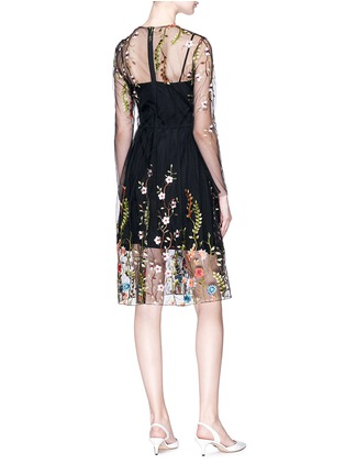 Figure View - Click To Enlarge - Jonathan Liang - Floral embroidered organdy dress