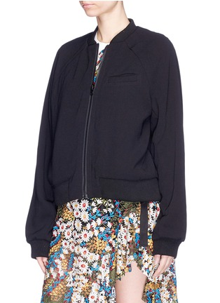 Detail View - Click To Enlarge - Jonathan Liang - Reversible floral embroidered bomber jacket