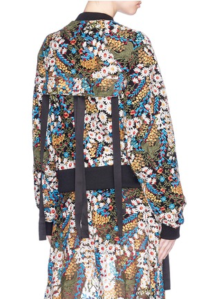 Back View - Click To Enlarge - Jonathan Liang - Reversible floral embroidered bomber jacket