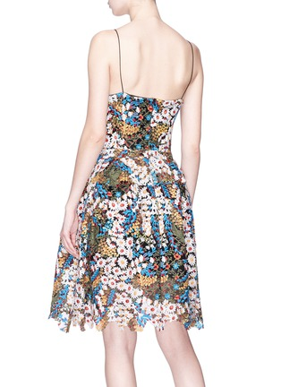 Back View - Click To Enlarge - Jonathan Liang - Floral embroidered dress
