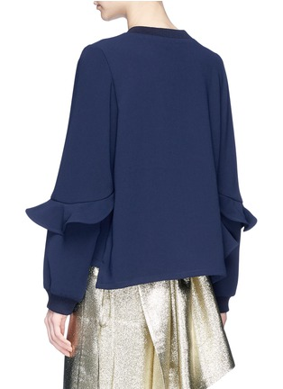 Back View - Click To Enlarge - Jonathan Liang - Asymmetric ruffle cady top