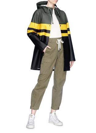 Detail View - Click To Enlarge - Stutterheim - Stripe colourblock unisex raincoat