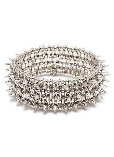 Philippe Audibert 'Amelia Aby' stud Swarovski crystal three row elastic bracelet