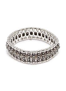 Philippe Audibert 'Roselynette' Swarovski crystal bead elastic bracelet