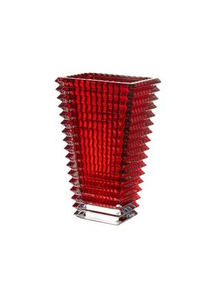Main View - Click To Enlarge - BACCARAT - Eye tall rectangular vase –Red
