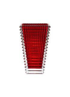 Baccarat Eye tall rectangular vase –Red