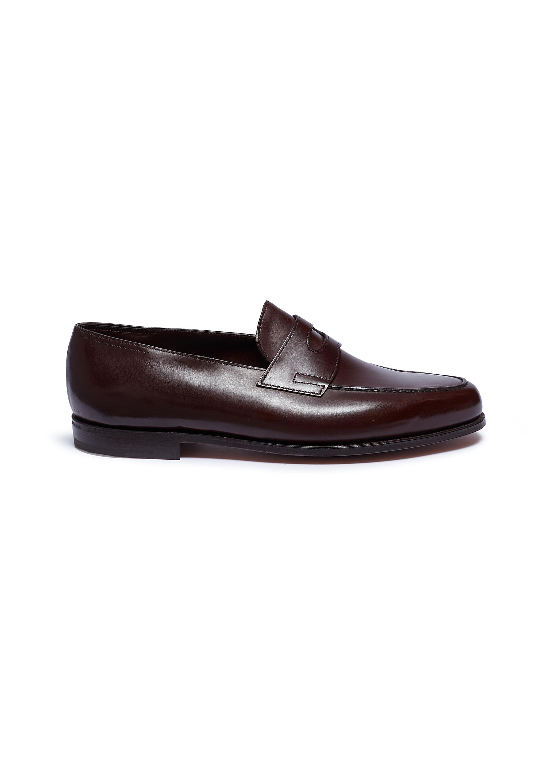 'Lopez' leather penny loafers