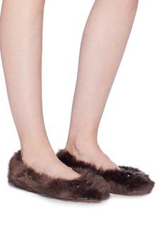 Sam Edelman 'Felina' faux fur ballet flats