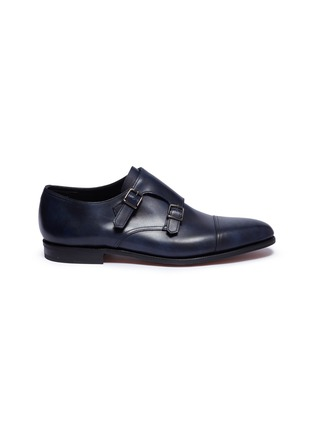 Main View - Click To Enlarge - John Lobb - 'William' double monk strap leather loafers