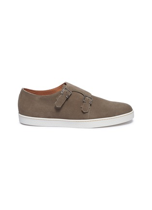 Main View - Click To Enlarge - JOHN LOBB - 'Holme' double monk strap suede sneakers