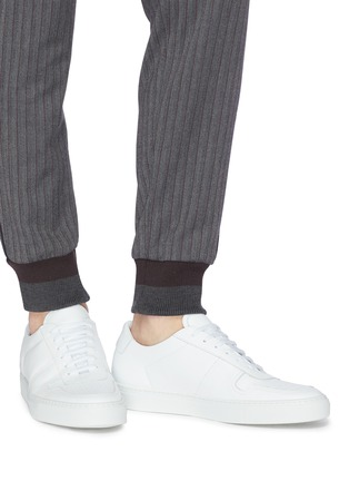 Figure View - Click To Enlarge - COMMON PROJECTS - 'Bball Low' leather sneakers