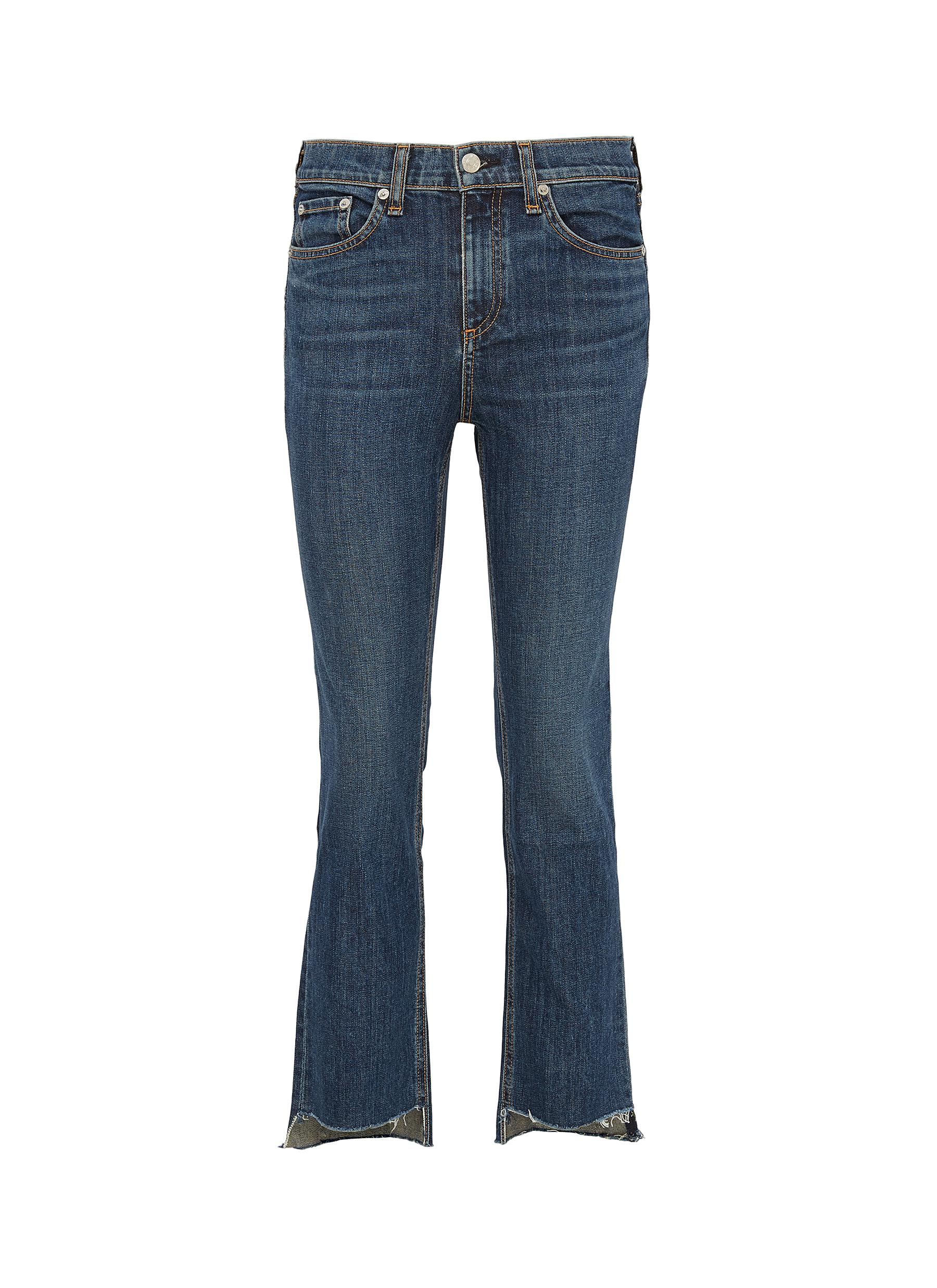 Buy Rag & Bone/Jean Jeans '10 Inch Stovepipe' staggered cuff jeans