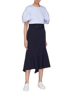 VICTORIA, VICTORIA BECKHAM Puff sleeve cotton Oxford top