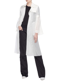 Quibe  Abstract embroidered trench coat