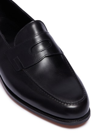 Detail View - Click To Enlarge - JOHN LOBB - Lopez' leather penny loafers