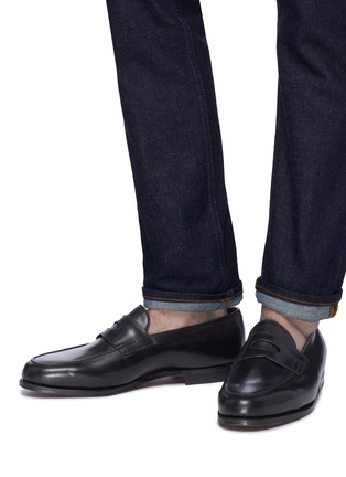 Figure View - Click To Enlarge - JOHN LOBB - Lopez' leather penny loafers