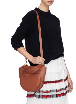 Figure View - Click To Enlarge - WANDLER - 'Hortensia' medium leather shoulder bag
