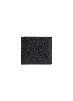 Main View - Click To Enlarge - THOM BROWNE - Pebble grain leather bifold wallet