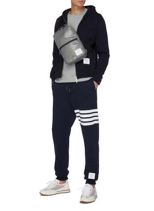 Figure View - Click To Enlarge - THOM BROWNE - Stripe print cotton sweatpants