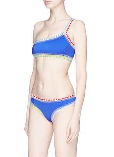 Kiini 'Tuesday' crochet trim one-shoulder bikini top