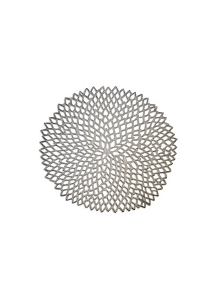 Main View - Click To Enlarge - CHILEWICH - Dahlia round placemat – Gunmetal