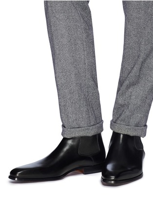 Figure View - Click To Enlarge - MAGNANNI - Leather Chelsea boots