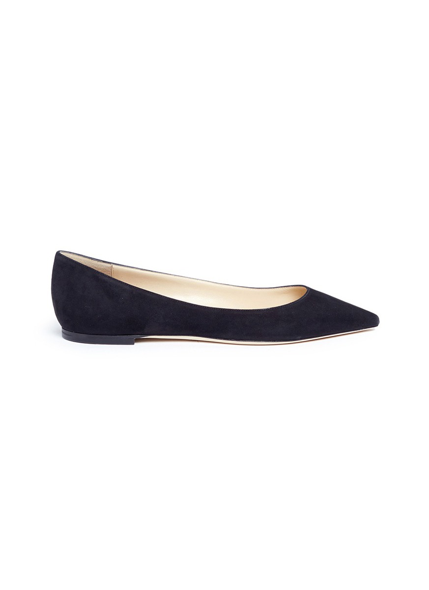 Romy suede flats by Jimmy Choo