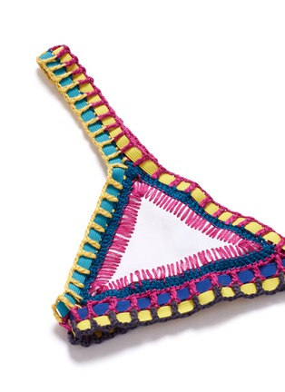 Detail View - Click To Enlarge - KIINI - 'Yaz' hand crochet triangle bikini top