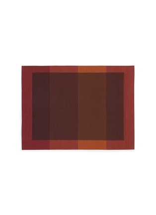 Main View - Click To Enlarge - CHILEWICH - Color Tempo rectangle placemat – Paprika