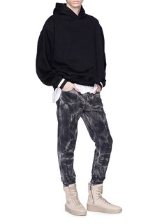 Fear of God 'Holy Water' tie-dye washed selvedge jeans