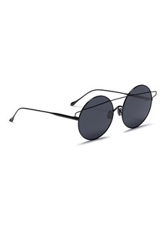 For Art's Sake 'Mykonos' brow bar metal mirror round sunglasses