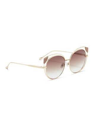 Figure View - Click To Enlarge - For Art's Sake - 'Skylar' cutout metal mirror cat eye sunglasses
