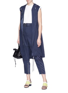 3.1 Phillip Lim Satin panel belted long cargo vest