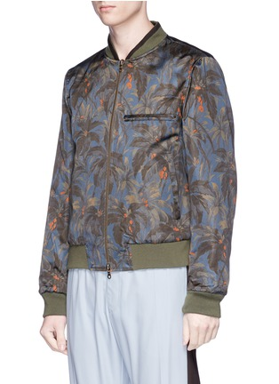 Detail View - Click To Enlarge - DRIES VAN NOTEN - 'Vinny' reversible floral embroidered bomber jacket