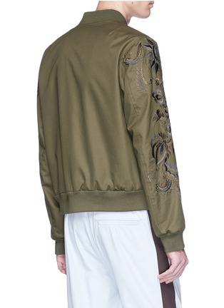 Back View - Click To Enlarge - DRIES VAN NOTEN - 'Vinny' reversible floral embroidered bomber jacket