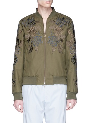 Main View - Click To Enlarge - DRIES VAN NOTEN - 'Vinny' reversible floral embroidered bomber jacket