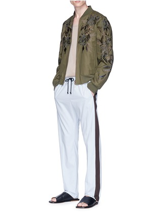 Figure View - Click To Enlarge - DRIES VAN NOTEN - 'Vinny' reversible floral embroidered bomber jacket